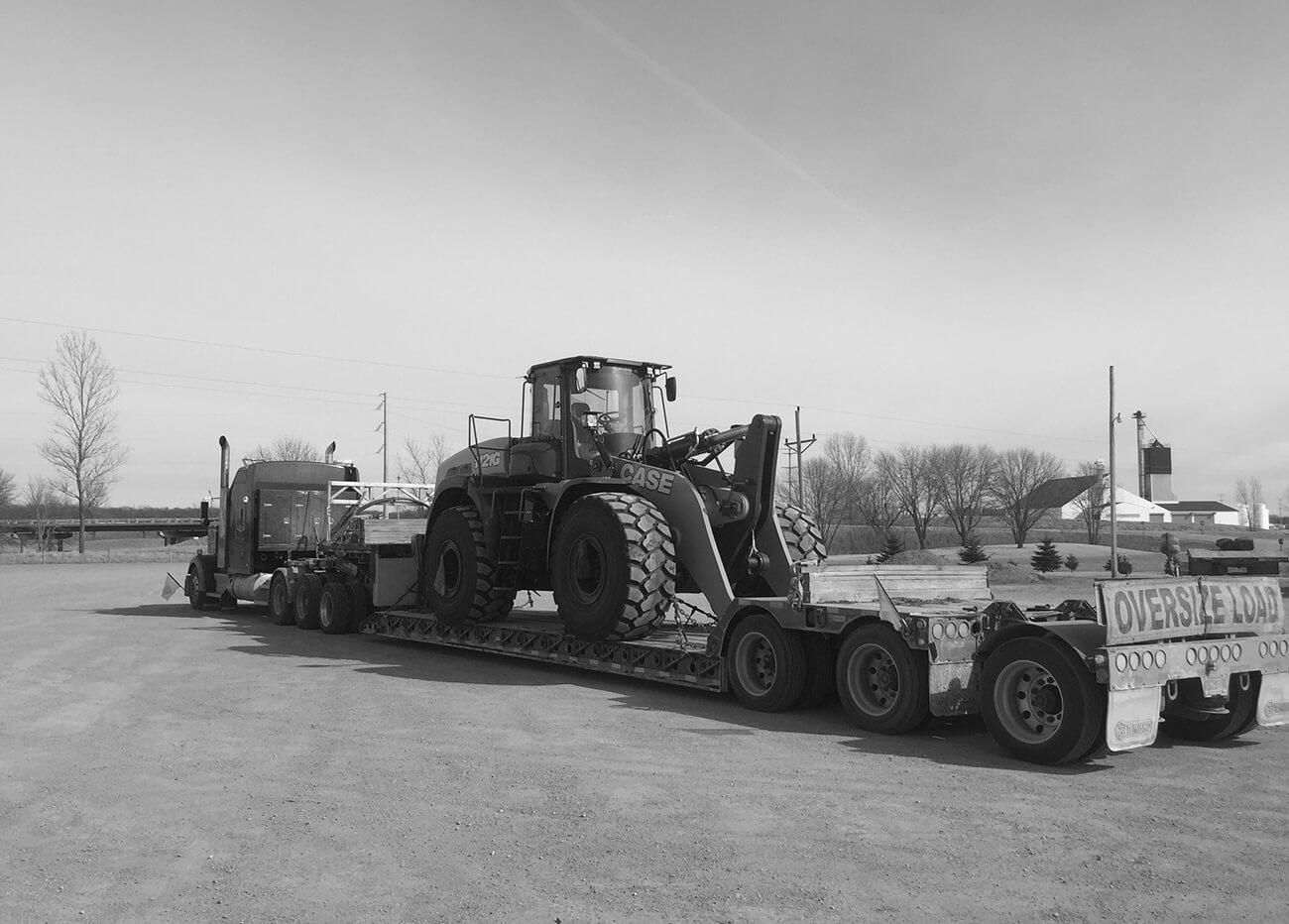 Oversize load | Step deck | Low pro trailer | Road transport
