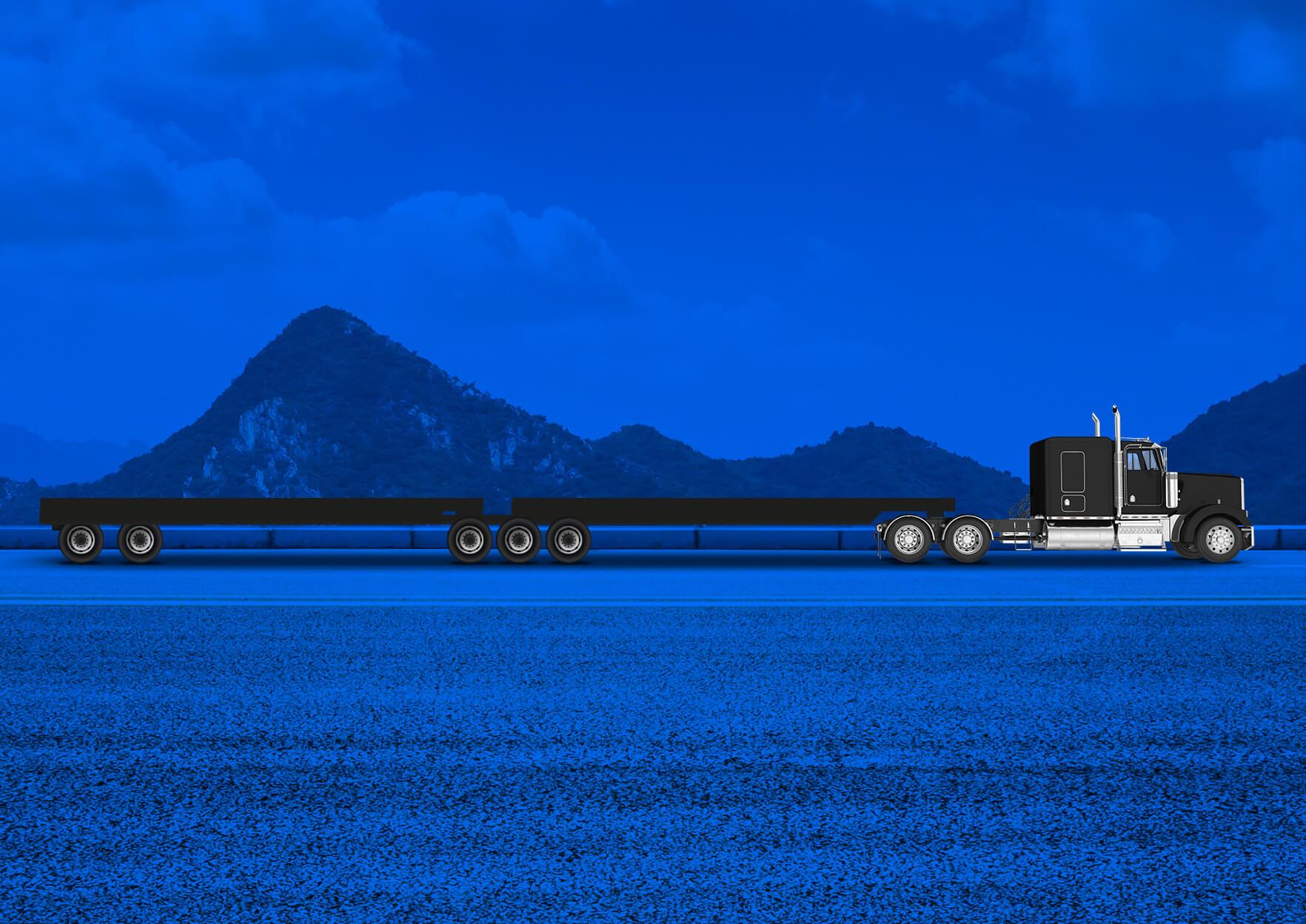 B-train tailer   Load   Goods   Transportation service